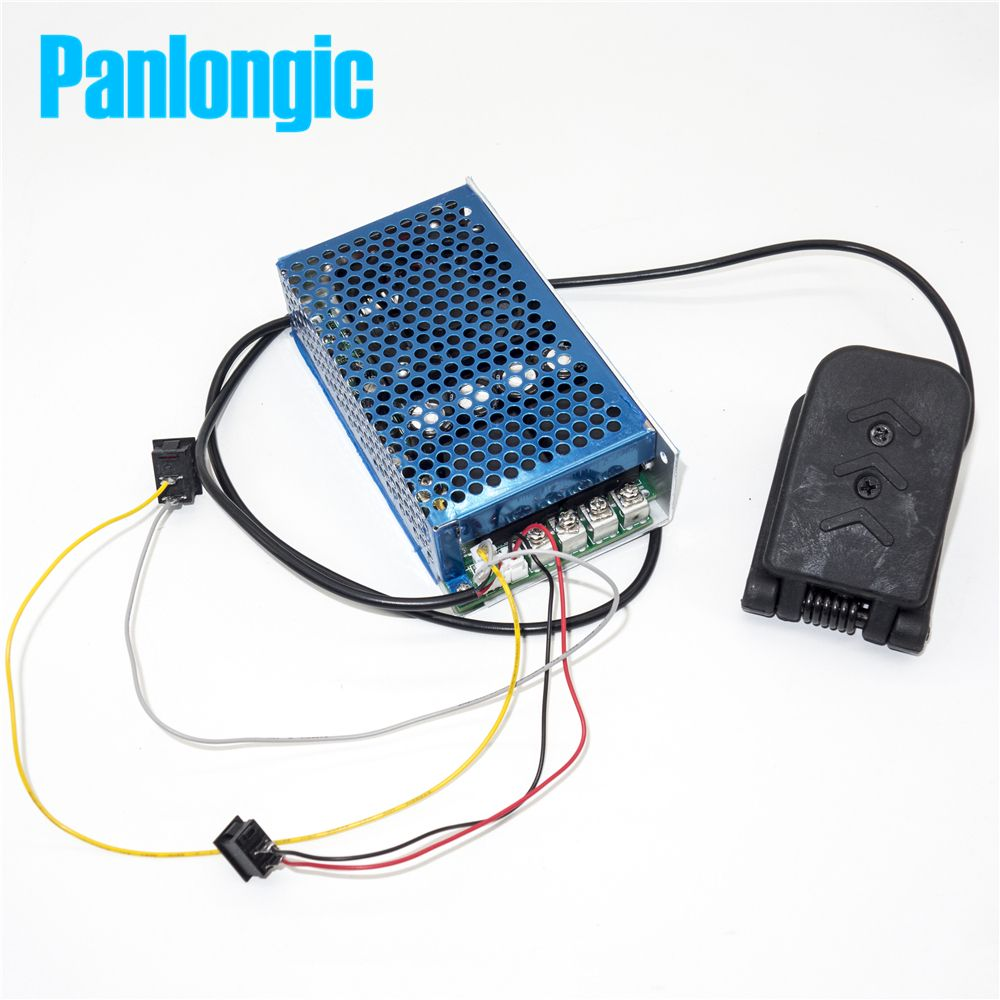 Panlongic Footboard Hall Throttle 100A 5000W Reversible PWM DC Motor Speed Controller 12V 24V 36V 48V Soft Start Brake