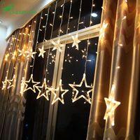 Luces de Navidad al aire libre cadena Led cálida decoraciones de Navidad blancas para el hogar Adornos Navidad Natal decoración Kerst 12 lámpara. W