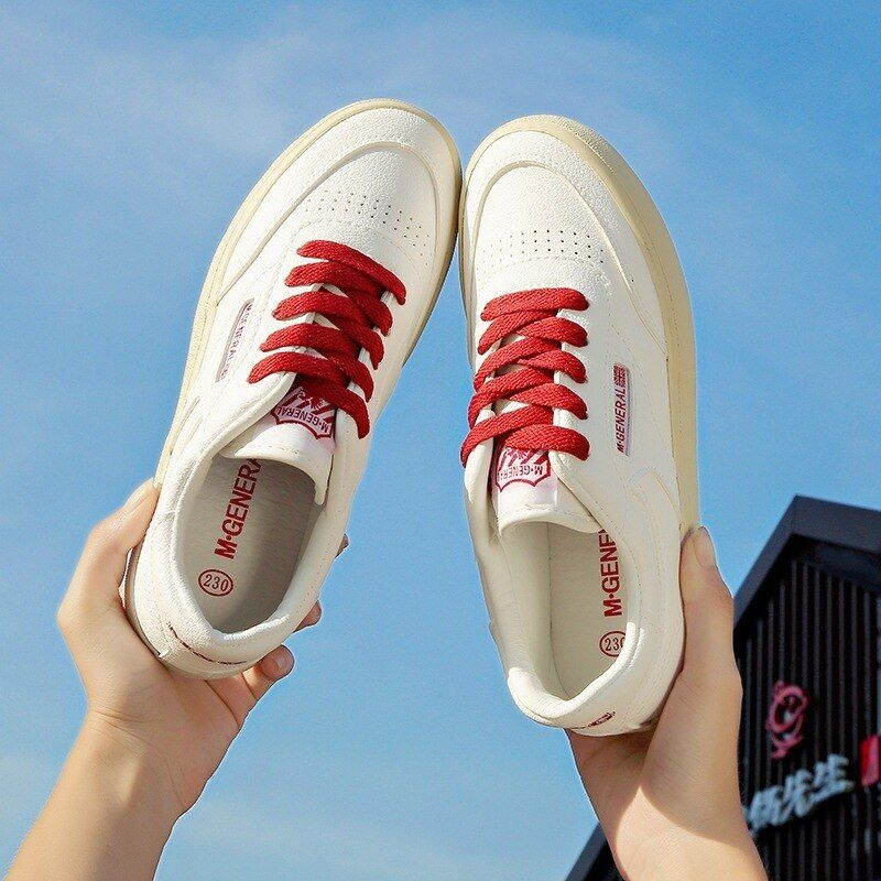 Small White Autumn Korean Low Help Shoes Student Canvas-MAM