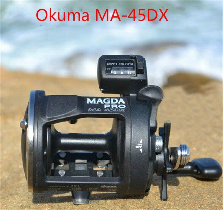 Fishing tackle Okuma magda Ma-45dx drum reel cable winder fishing round Count REEL Sea fishing reel Right hand reel