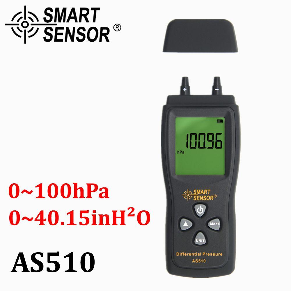 Manomètre Numérique Différentiel de pression d'air Pression Mètre 0-100 hPa/0-45.15 dans H2O numérique vide négatif manomètre mètre