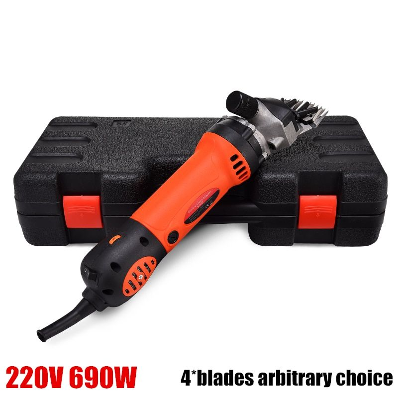 US and EU plug 220V 690W Electric Shearing Machine For Sheep/Sheep Goat Clipper,13 teeth or 9 teech 4 blades arbitrary choice