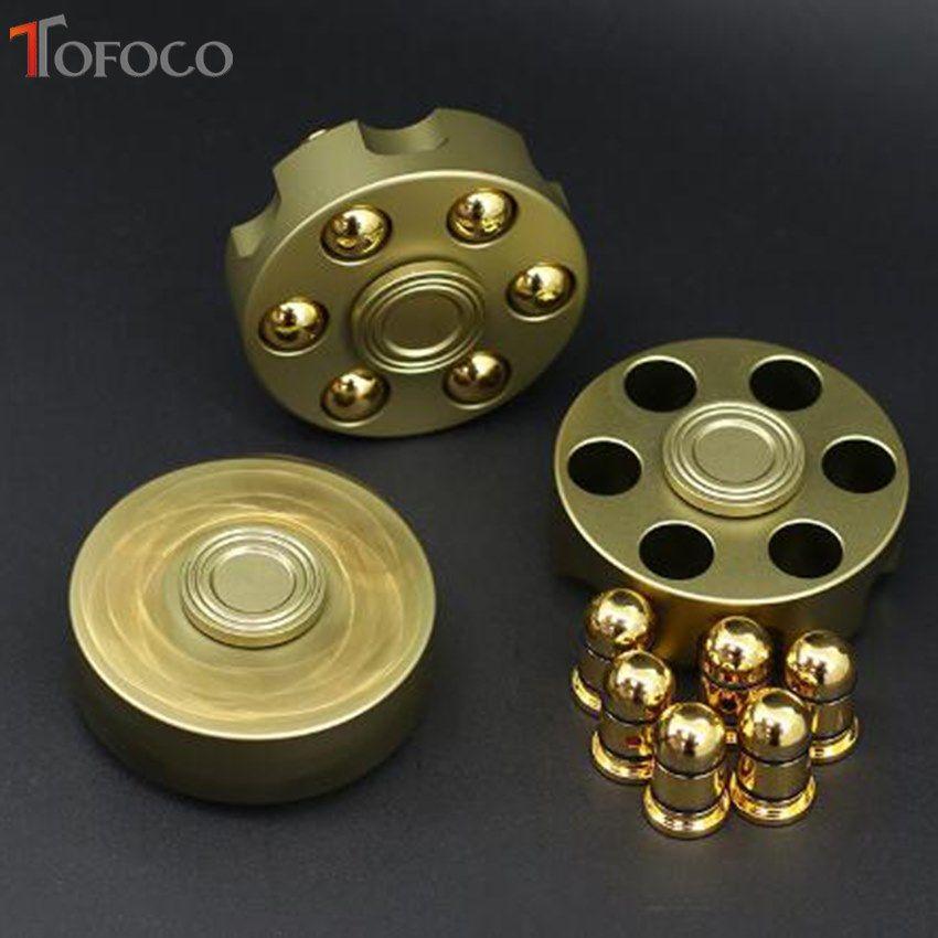 TOFOCO Fidget Spinner Metal Revolver Figet Spinner For Hand Spinner Gift Cube ANTI Stress Finger Spiner Spynner