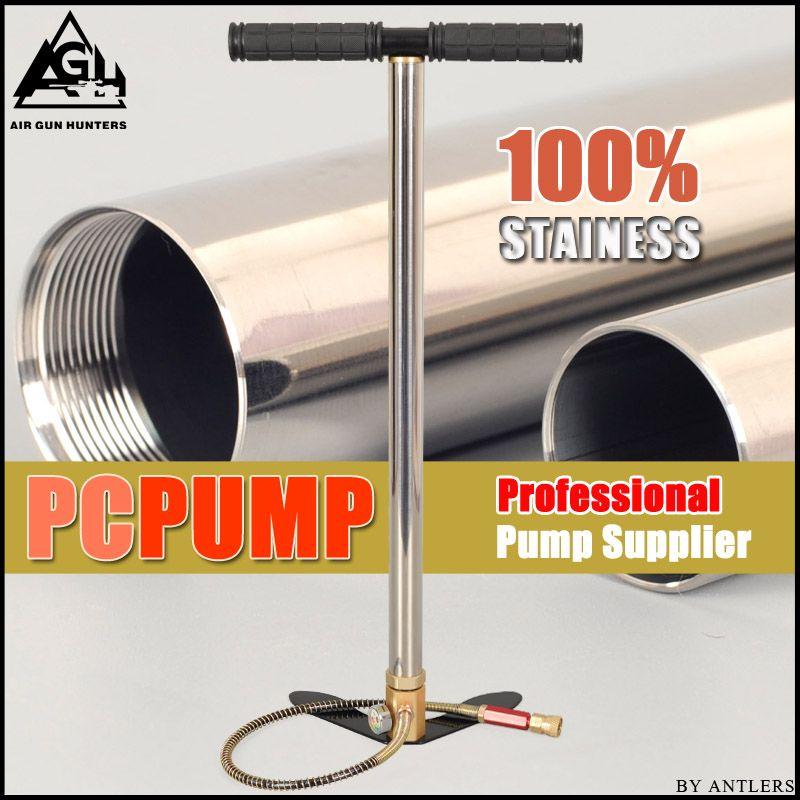 High Pressure air Pcp Pump 4500PSI/30MPA Stainless steel pcp air hand pump for airgun paintball scuba tank filling gauge filter