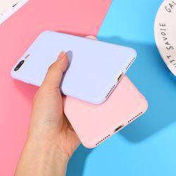 Couleur TPU Silicone Givré Mat Cas Pour iPhone 7 8 Plus 6 6 s X Plus 5 5S Souple Couverture Arrière pour iPhone 6 6 Plus 7 8X5 5S cas