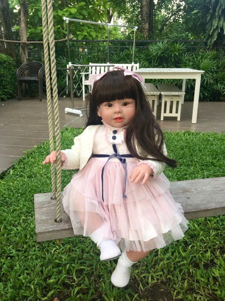70 cm Silicone vinyle Reborn bébé poupée série réaliste Emulational grande taille bébé Reborn poupée jouet vêtements modèle filles Brinquedos
