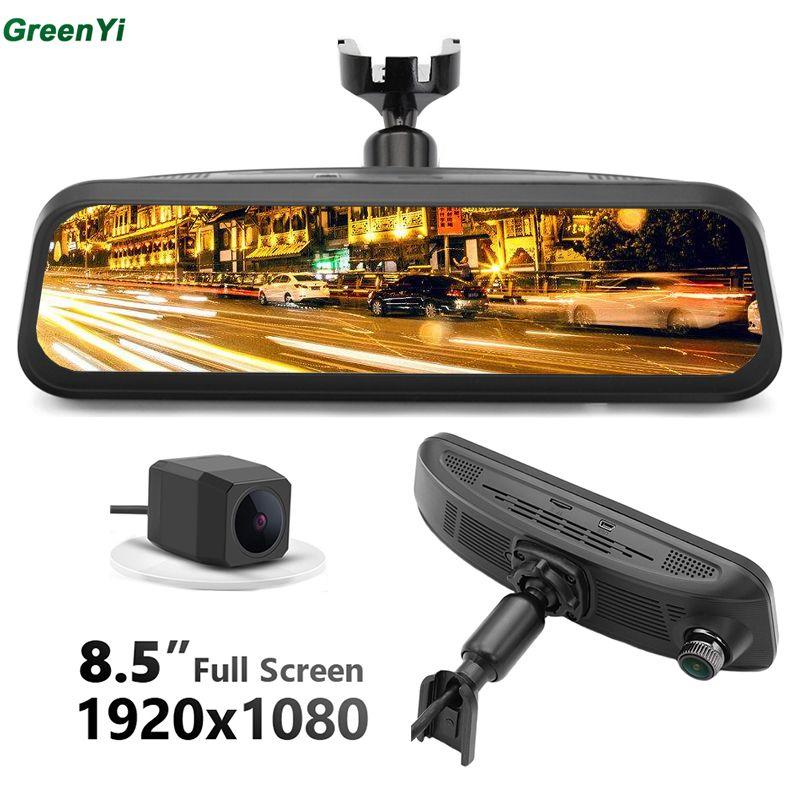 GreenYi NT96663 Gestensteuerung Auto DVR Kamera OEM Montieren Dampfenden Video Spiegel Monitor HD 170 winkel 1080 Dual Recorder Kamera