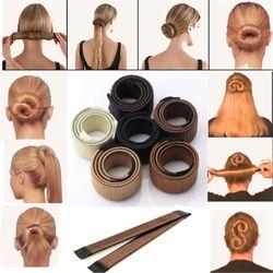 6 Couleurs DIY Outil Cheveux Accessoires 22 cm Perruque Beignets Bourgeon Tête Band Ball Français Twist Français Magique Bun Maker Doux Cheveux Braider