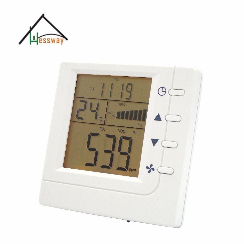 RS485 communication Intelligent Air Controller VOC CO2 switch Relay fan Ventilator control