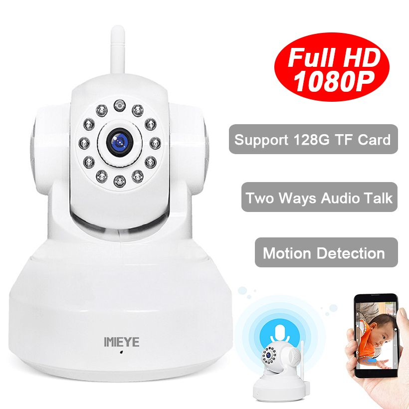 IMIEYE HD 1080P 720P Wifi IP Camera Wireless IR CCTV Surveillance Security Network Mini Cam Video Record Pan Tilt Baby Monitor