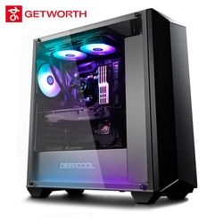 GETWORTH S3 gama alta escritorio Sonic Radar para PUBG I7 8700 K 1080Ti 256G SSD 80 más PSU LOL agua refresca RGB Luz