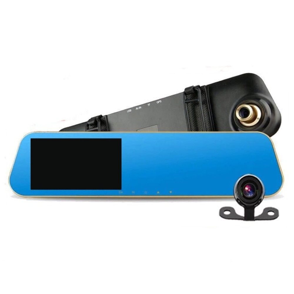 4.3 Inch Full HD 1080P 140 Degrees Car Vehicle DVR Rear View Mirror With Dual Lens Camera Night Vision Dash Cam Recorder
