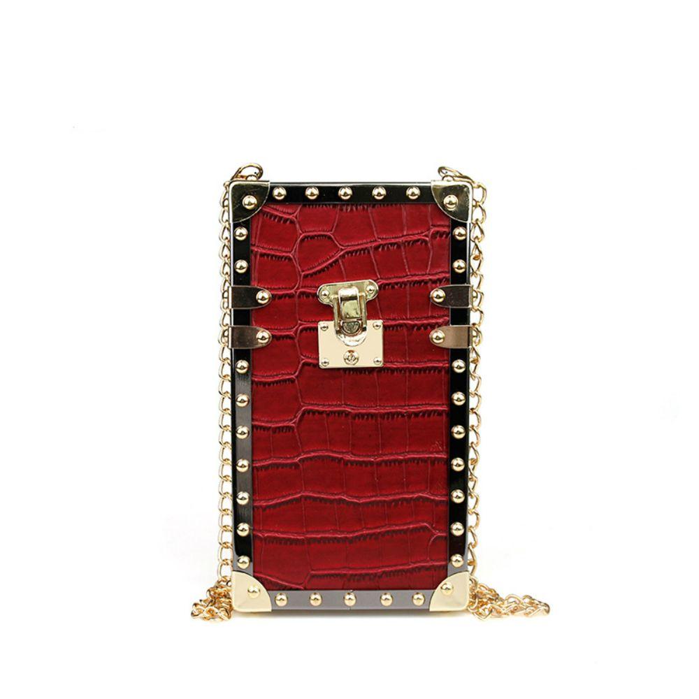 Box clutch abendtasche Mode Beliebte Metall Taschen Hochzeit tasche