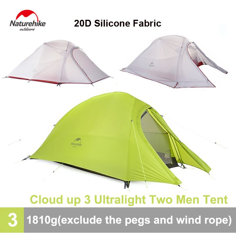 Naturehike 3 Person 4 Season 20D Silicone Tent Waterproof Camping Tent with Footprint NH15T003-T