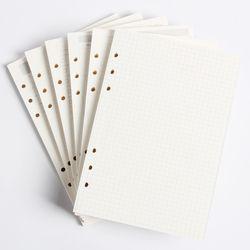 Classique 6 trous liant portable intérieure papier core/remplissage communications intérieures: ligne, grille, points, liste, mensuel quotidien hebdomadaire planificateur A5 A6