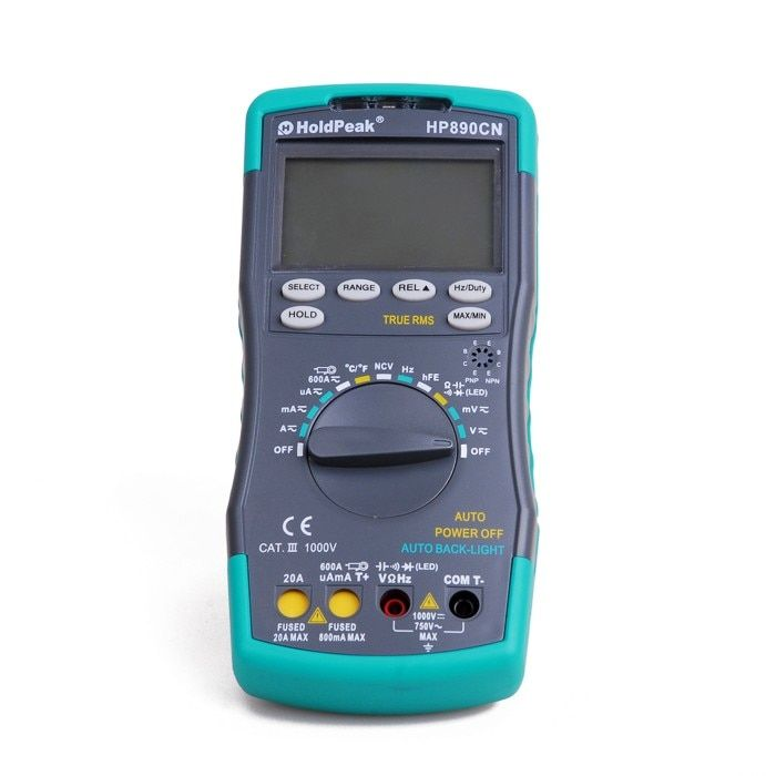 HoldPeak HP890CN Stable LCD Digital Multimeter DC AC Voltage Current HP-890CN Temperature Meaurement Auto Range