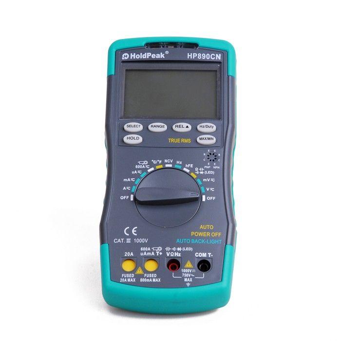 HoldPeak HP890CN Stable LCD Digital Multimeter DC AC Voltage Current HP-890CN Temperature Meaurement Auto Range