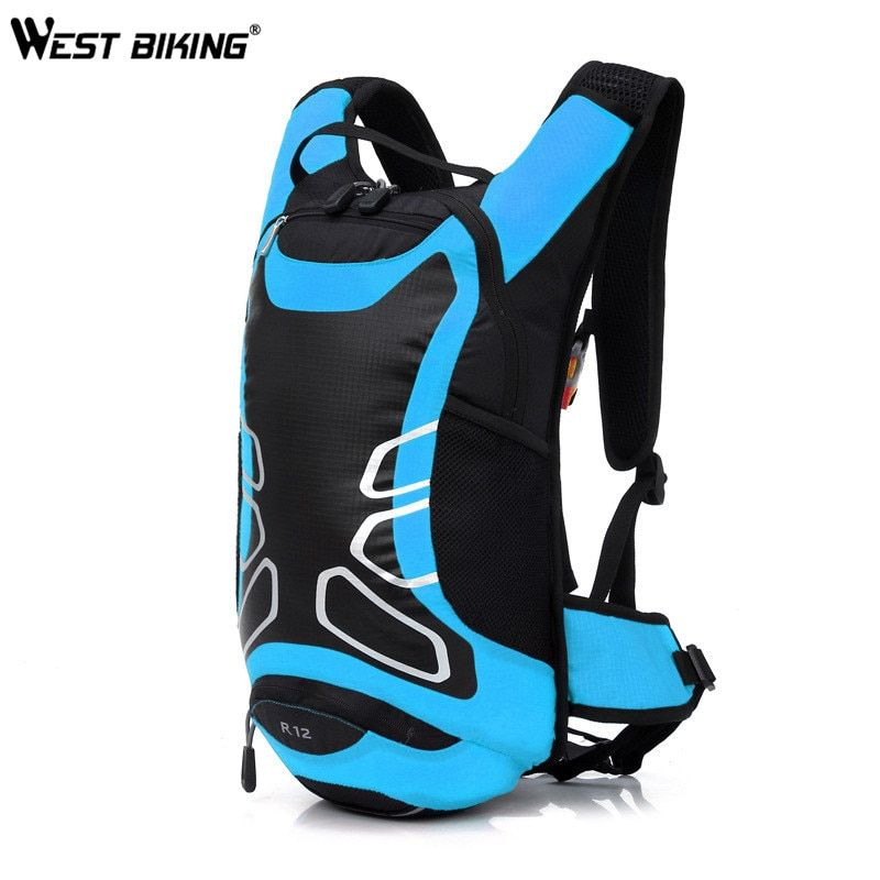 WEST BIKING Bicycle Bag Shoulder Backpack Ultralight Sport Riding MTB Hydration Backpack 12L Bike Bicycle Cycling Backpack