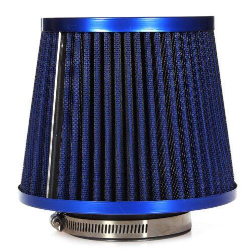 Universal Car Air Filter Vehicle Induction Kit High Power Mesh Blue Finish Sport