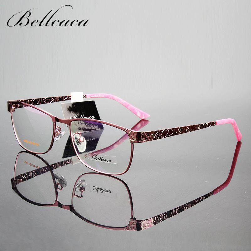 Bellcaca monture de lunettes femmes lunettes ordinateur optique lunettes myopie cadre pour femmes Transparent clair lentille lunette BC023
