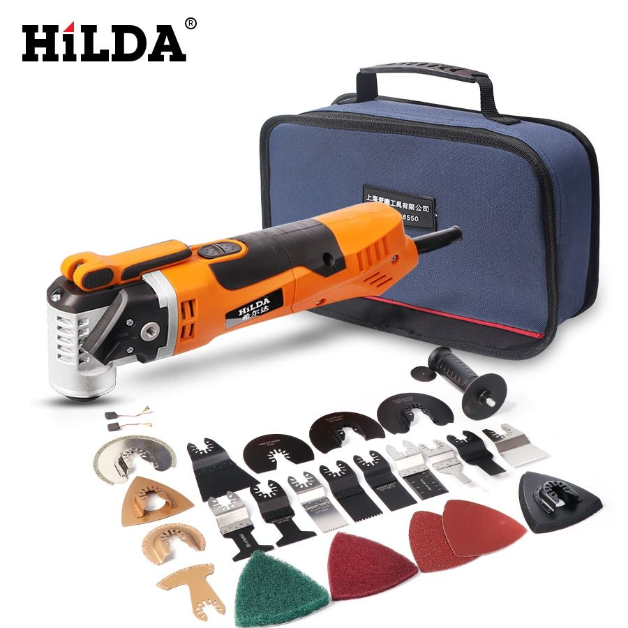 HILDA Multi-Function Electric Saw Renovator Tool Oscillating Trimmer <font><b>Home</b></font> Renovation Tool Trimmer woodworking Tools