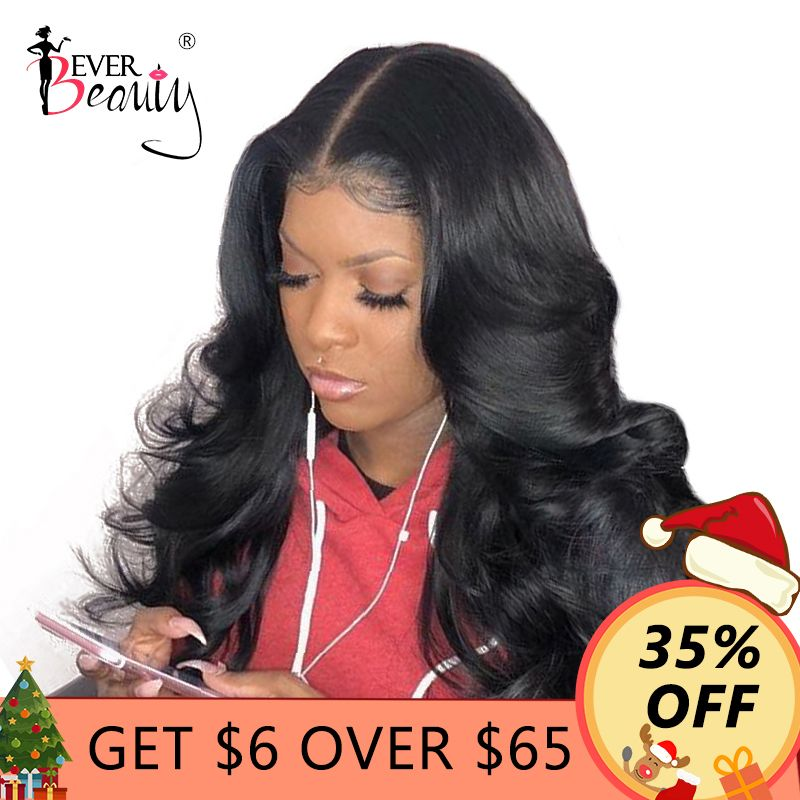 250% Density 13x6 Lace Front Human Hair Wigs For <font><b>Women</b></font> With Baby Hair Brazilian Lace Frontal Body Wave Wig Remy Ever Beauty