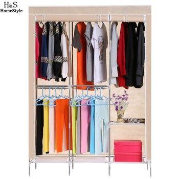 Homdox Non Tissé Garde-Robe Pliage Tissu Pratique Armoire Portable Rack De Stockage De Vêtements Placard Vêtements Organisateur Armoire B20A