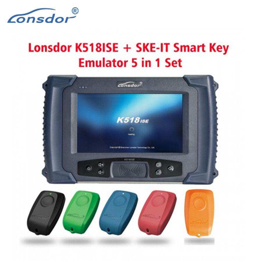 Lonsdor K518ISE K518 ISE Auto Schlüssel Programmierer mit Entfernungsmesser-korrektur für Alle Macht SKE-LT/SKE-LT-DSTAES 128 biSmart Schlüssel Emulator