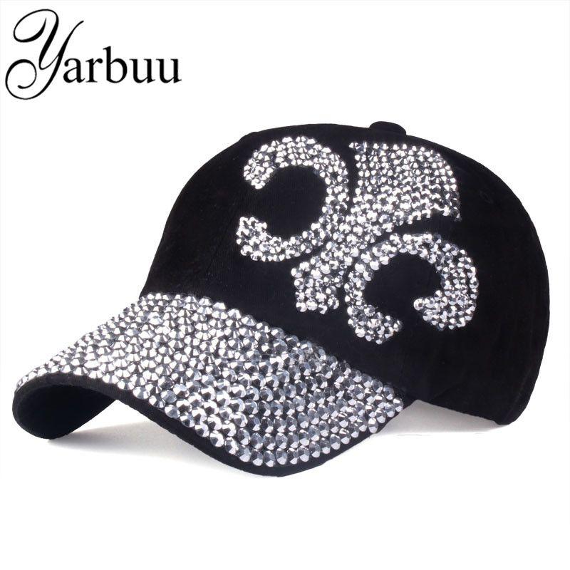 [YARBUU] 2016 nouvelle mode chapeau casquettes sunshading hommes et femmes casquette de baseball strass chapeau denim et coton snapback casquette hip hop