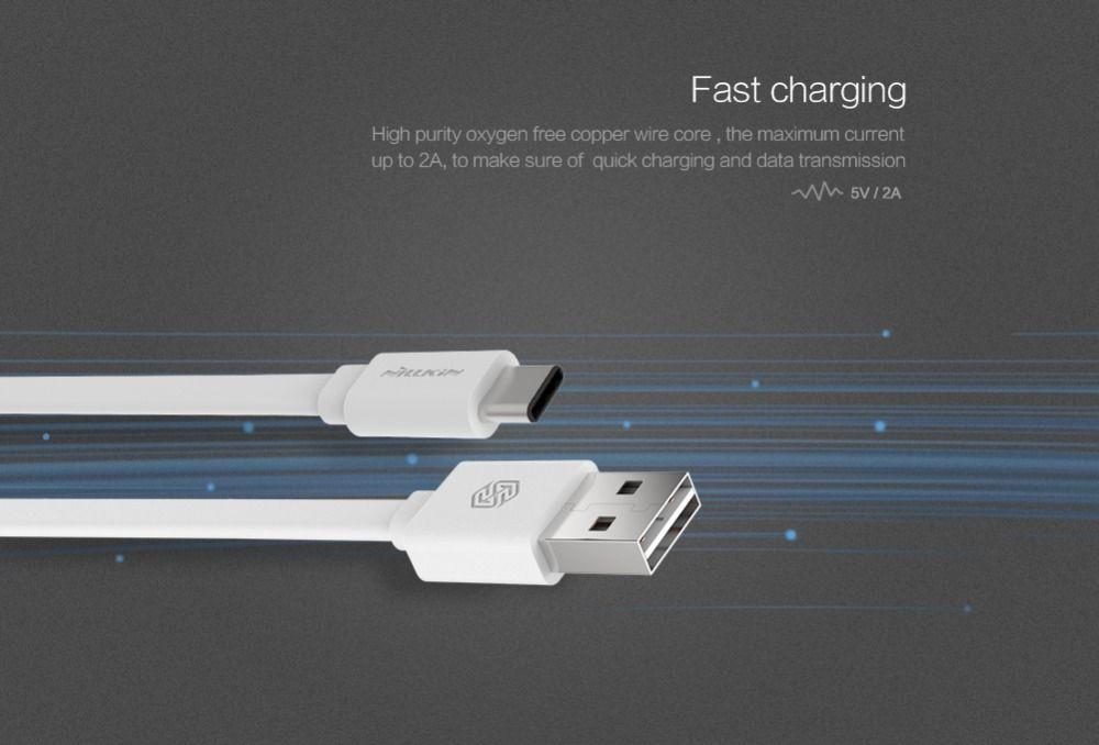 c type Original Nillkin usb type c fast Charge type c cable For LG NEXUS 5X Xiaomi mi4c Meizu Pro 5 Huawei Nexus 6P usb c car
