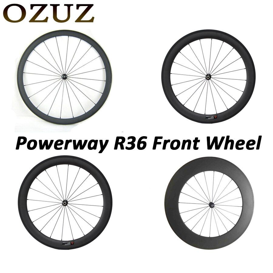 Factory Price Top quality OZUZ Clincher Tubular Straight Pull Carbon Wheelset 24mm 38mm 50mm 88mm Only Front Carbon Road Wheel