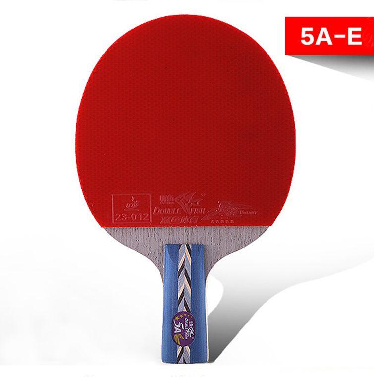 Спортивные товары подлинной двойной рыбы пять звезд прямой захват ракетка для настольного тенниса 5a-e Double Face обратный клей для пинг-понга