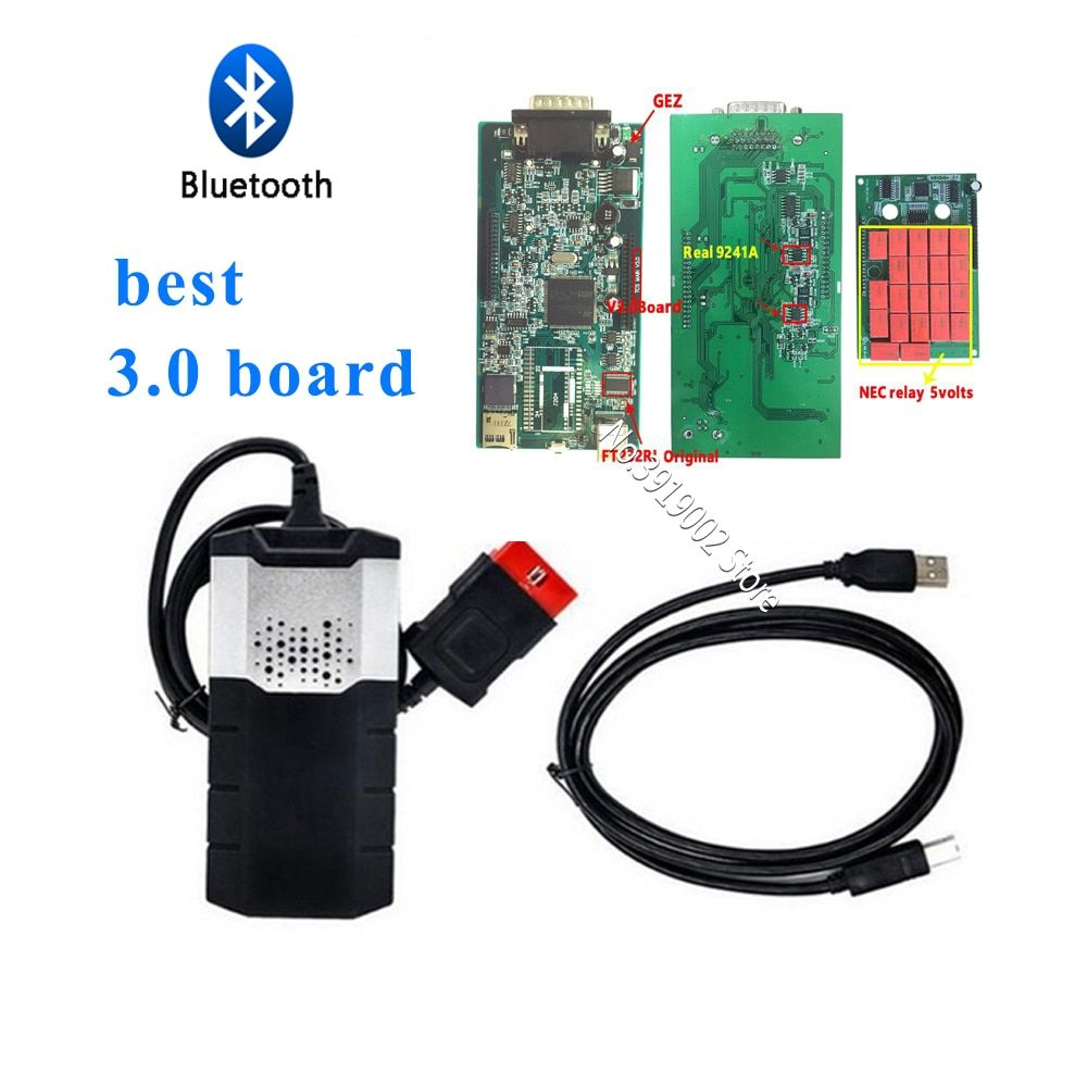 tcs cdp pro v3.0 pcb 9241 chip with bluetooth keygen Scan tool vd ds150e cdp for delphis for autocome 2015R3 with keygen on cd