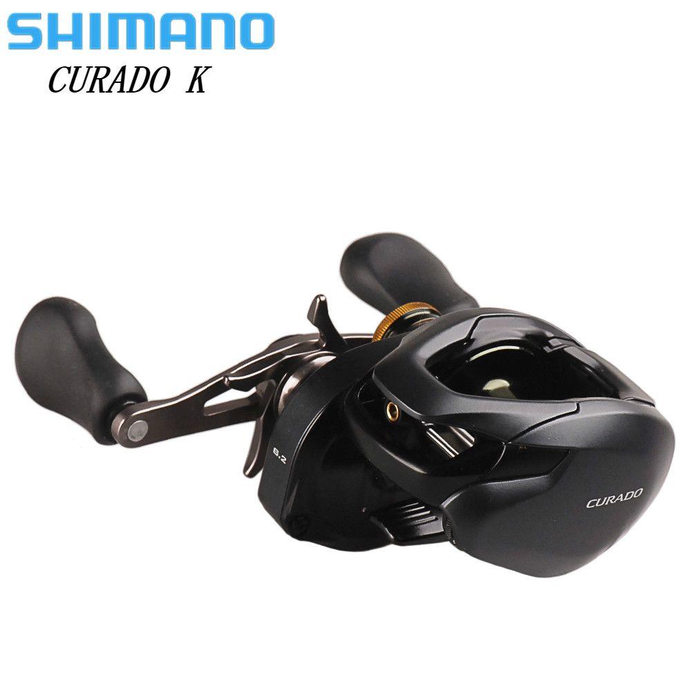 100% Original SHIMANO CURADO K Low Profile Spinning Angelrolle 200/201 200HG/201HG 6 + 1BB Hagane Körper Köder Casting Angelrolle