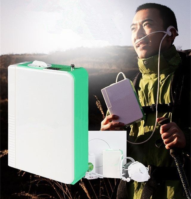 Portable Li Battery Oxygen Concentrator CE Approved PSA Technology DC Mini Oxygen Generator Outdoor Use Oxygen Making Machine