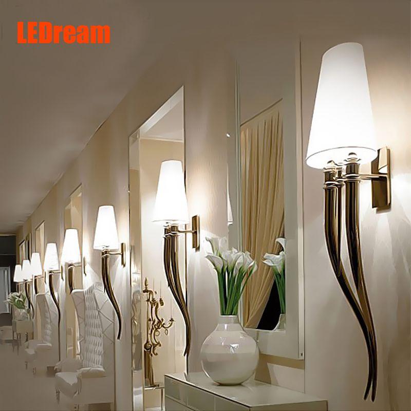 Creative Led Cloth Wall Lamp Modern Guard Wall Lamps European Style Bedroom Bedside Corridor Lights E27 Hand Cloth Lampshade