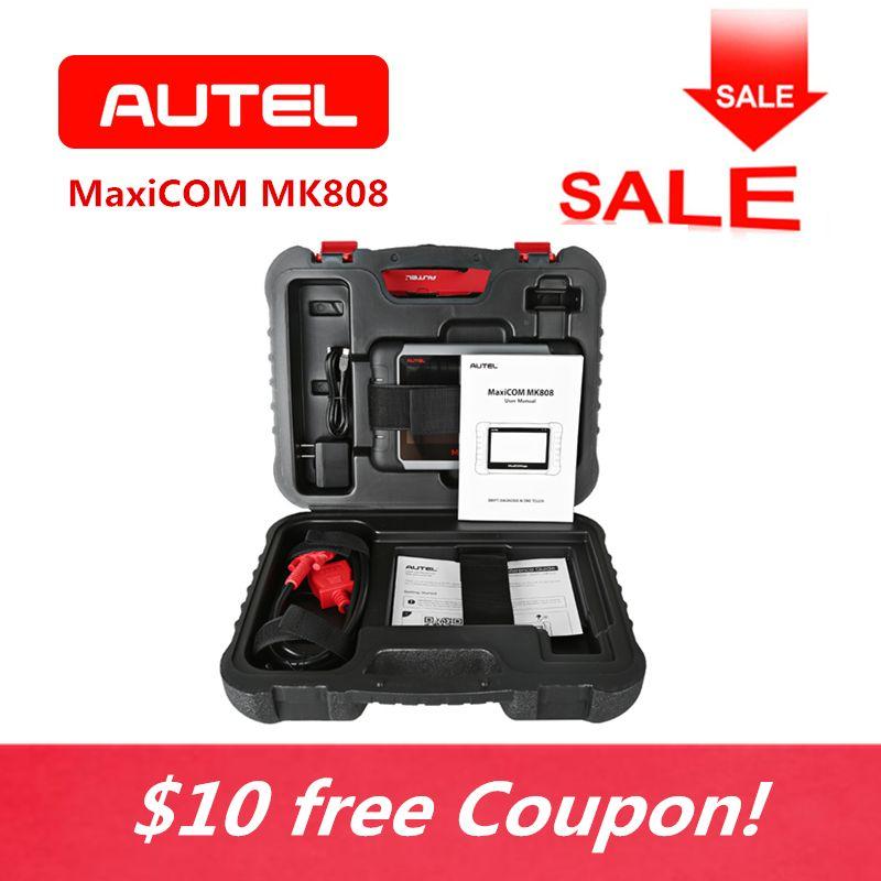 AUTEL MaxiCOM MK808 Automotive Diagnostic Tool 7 Inch Wifi Code Scanner With IMMO EPB SAS BMS TPMS DPF Service Mileage Reset