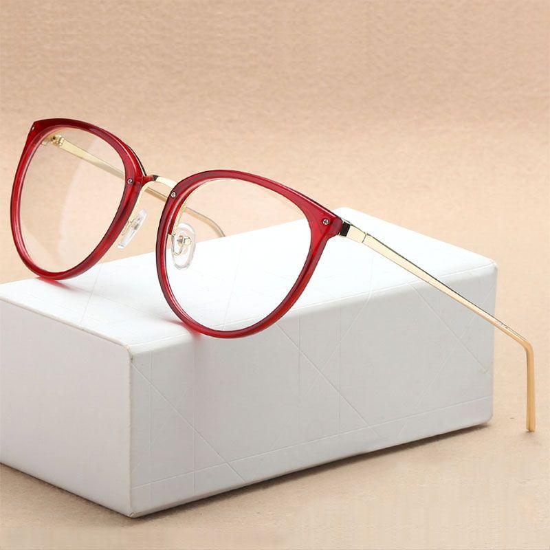 Mode optique lunettes cadre myopie pleine jante métal femmes lunettes lunettes Oculos de Grau lunettes Prescription lunettes