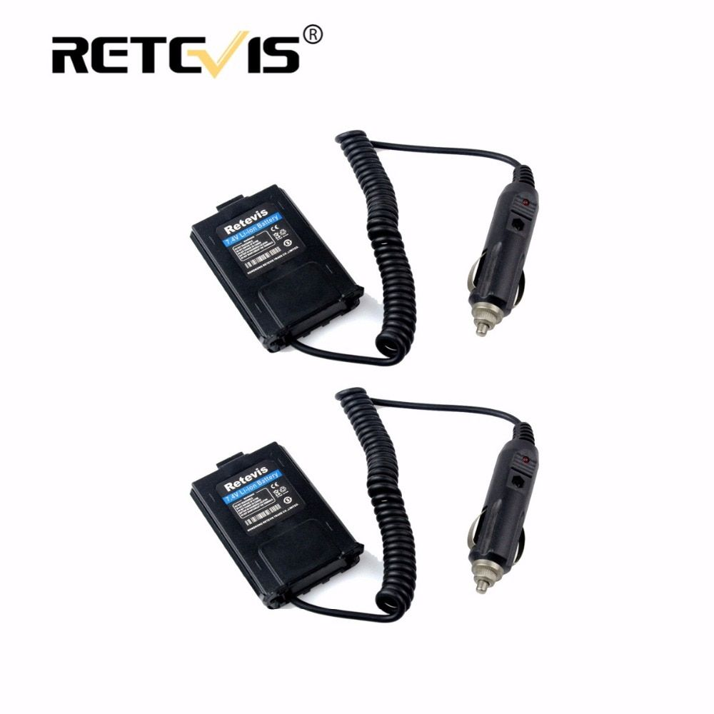 2pcs Car Charger Battery Eliminator DC 12V For Baofeng UV-5R UV5R Retevis RT-5R RT5R Walkie Talkie Accessories for drive travel
