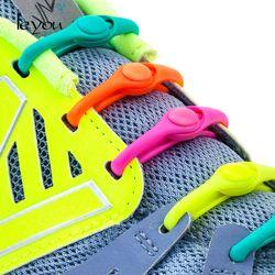 12 PCS Paresseux Pas de Lien Élastique Lacets de Silicone de Sport de Course Sport Lacets Enfants et Adulte Chaussures Cordes Pour NMD Sneakers