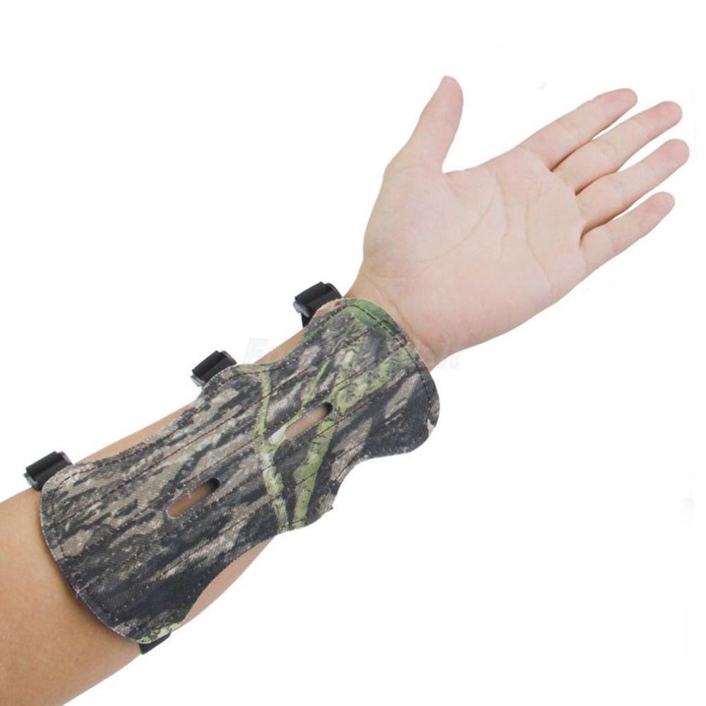 Camo Bogenschießen Bogen Arm Schutzfolie Unterarm Sicher Getriebe 3 Straps Armschutz Bogen Schutz Kostenloser versand