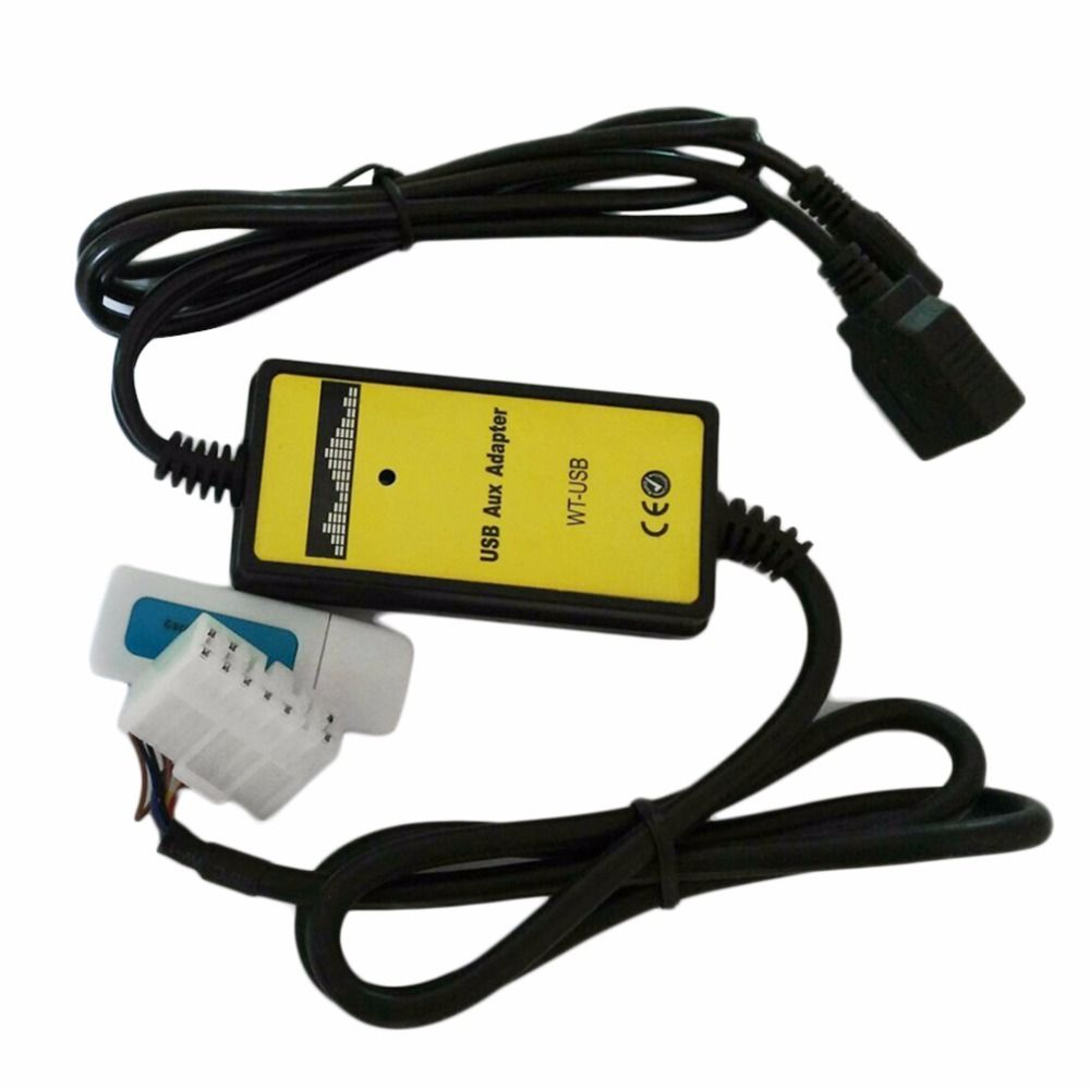 Professional Auto Car USB Aux-in Cable Adapter MP3 Player Radio Interface for Toyota 5+7P connector Audio AUX Cable