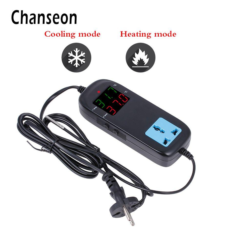 CA 90 v ~ 250 v Affichage à LED Numérique Prise Reproduction Régulateur De Température Thermomètre Thermostat Électronique Thermocouple Thermostat
