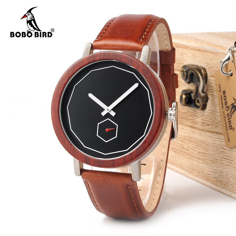 BOBO BIRD WM28 New Brand Design Rose Wooden Watches for Men Women Cool Metal Wood Case Japan Quartz Watches Gift Box Accept OEM