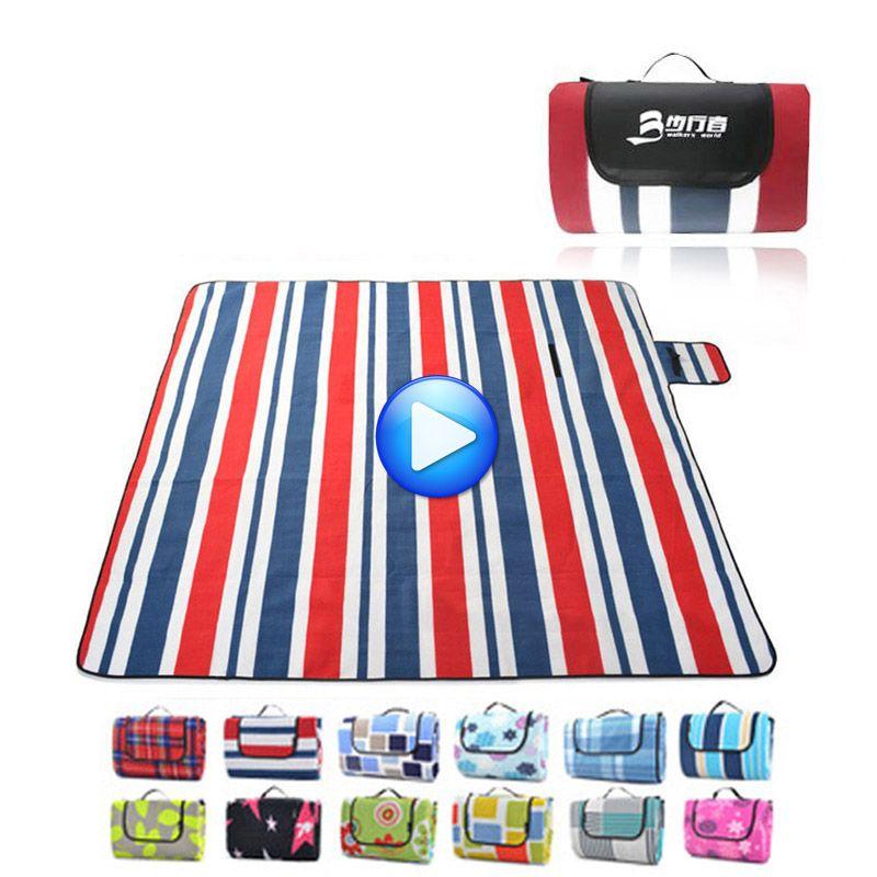 200*200 CM Faltbare Camping Matte-Plane Im Freien Picknickdecke Wasserdicht Decke Strand Sandstrandmatten Matte Schlafzelt Sand Frei matte