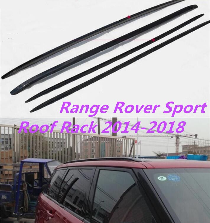 JIOYNG Aluminum Alloy Car Roof Rack baggage luggage bar For Land Rover Range Rover Sport 2014 2015 2016 2017 2018(Black silver)