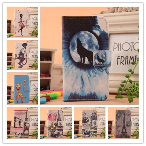 For Digma CITI Z510 Z520 Z530 Linx A400 A500 C500 3G Phone case Fashion Flip Painting PU Leather With Card Holder Cover