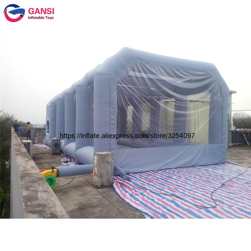 8 mt * 4 mt * 3 mt grau aufblasbare auto zelt im freien sprühfarbe zelt für auto waschen kommerziellen aufblasbare lackierkabine lackierkabine für verkauf