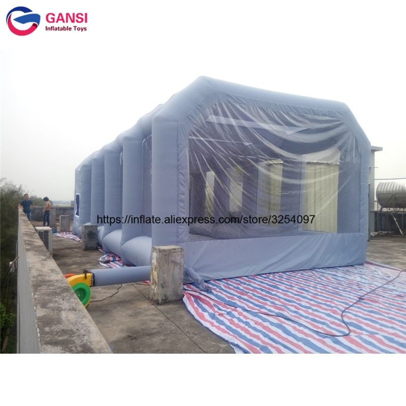 8m*4m*3m gray inflatable car tent outdoor spray paint tent for car wash commercial inflatable paint booth spray booth for sale