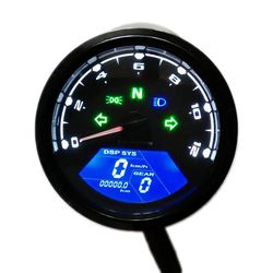 Universal Digital Motorcycle Speedometer Odometer Techometer Gauge Dual Speed LCD Screen for 1-4  Cylinders